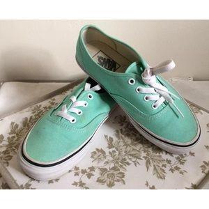 Original Turquoise VANS Canvas Sneakers Size 5.5/7
